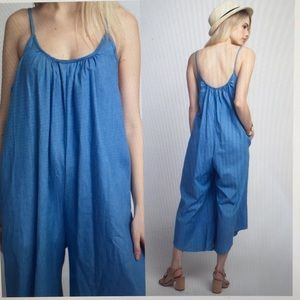 🌟🌟2 Left! - Chambray Gaucho Jumpsuit 🌟🌟🌟‼️
